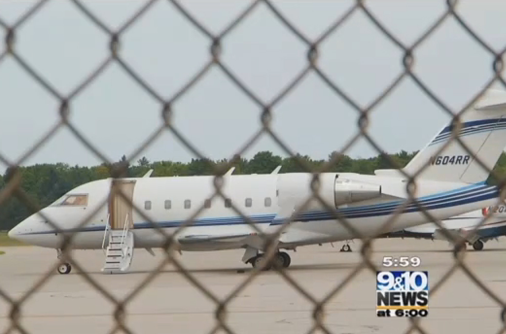 The plane did not take off (Picture: 9&10 News)