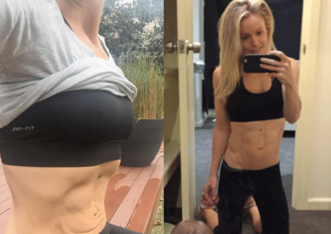 5c650430851ae Anna Strode proves that mums can have a six pack and loose skin ...