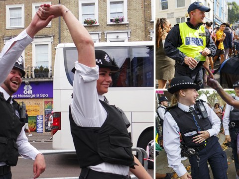 Not all police officers were dealing with crime at Notting Hill Carnival