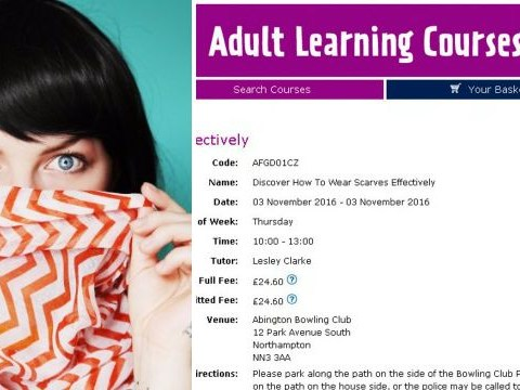 A council is organising a course on how to wear a scarf