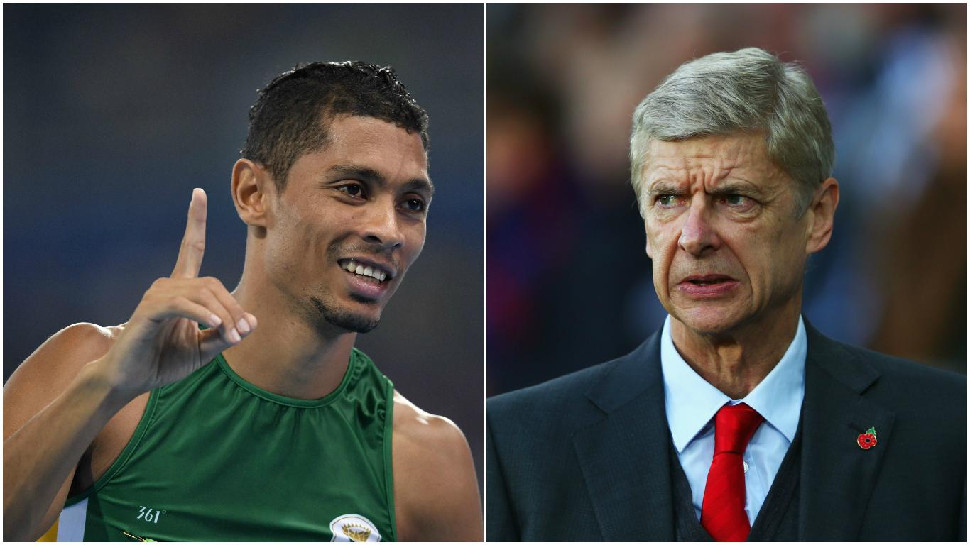 Wayde van Niekerk trolls Arsenal minutes after breaking 400m world record at Rio 2016 Olympics