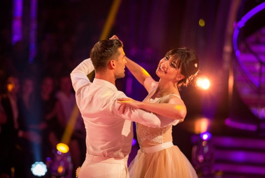 Programme Name: Strictly Come Dancing 2016 - TX: 24/09/2016 - Episode: n/a (No. 1b) - Picture Shows: **LIVE SHOW** Aljaž Skorjanec, Daisy Lowe - (C) BBC - Photographer: Guy Levy