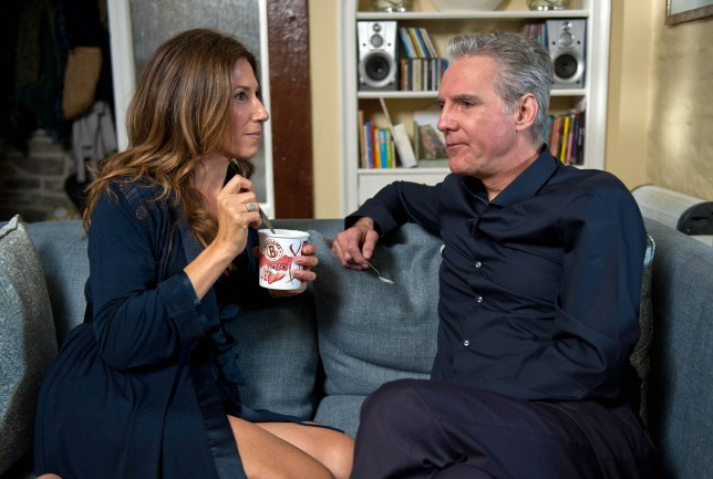 FROM ITV STRICT EMBARGO - NO USE BEFORE TUESDAY 20 SEPTEMBER 2016 Emmerdale - Ep 7630 Friday 30 September 2016 Frank MICHAEL PRAED sweet talks Megan Macey GAYNOR FAYE and she can't help responding to his charm...Later, Frank is optimistic but Megan tells him how she feels. Picture contact: david.crook@itv.com on 0161 952 6214 Photographer - Amy Brammall This photograph is (C) ITV Plc and can only be reproduced for editorial purposes directly in connection with the programme or event mentioned above, or ITV plc. Once made available by ITV plc Picture Desk, this photograph can be reproduced once only up until the transmission TX date and no reproduction fee will be charged. Any subsequent usage may incur a fee. This photograph must not be manipulated excluding basic cropping in a manner which alters the visual appearance of the person photographed deemed detrimental or inappropriate by ITV plc Picture Desk. This photograph must not be syndicated to any other company, publication or website, or permanently archived, without the express written permission of ITV Plc Picture Desk. Full Terms and conditions are available on the website www.itvpictures.com