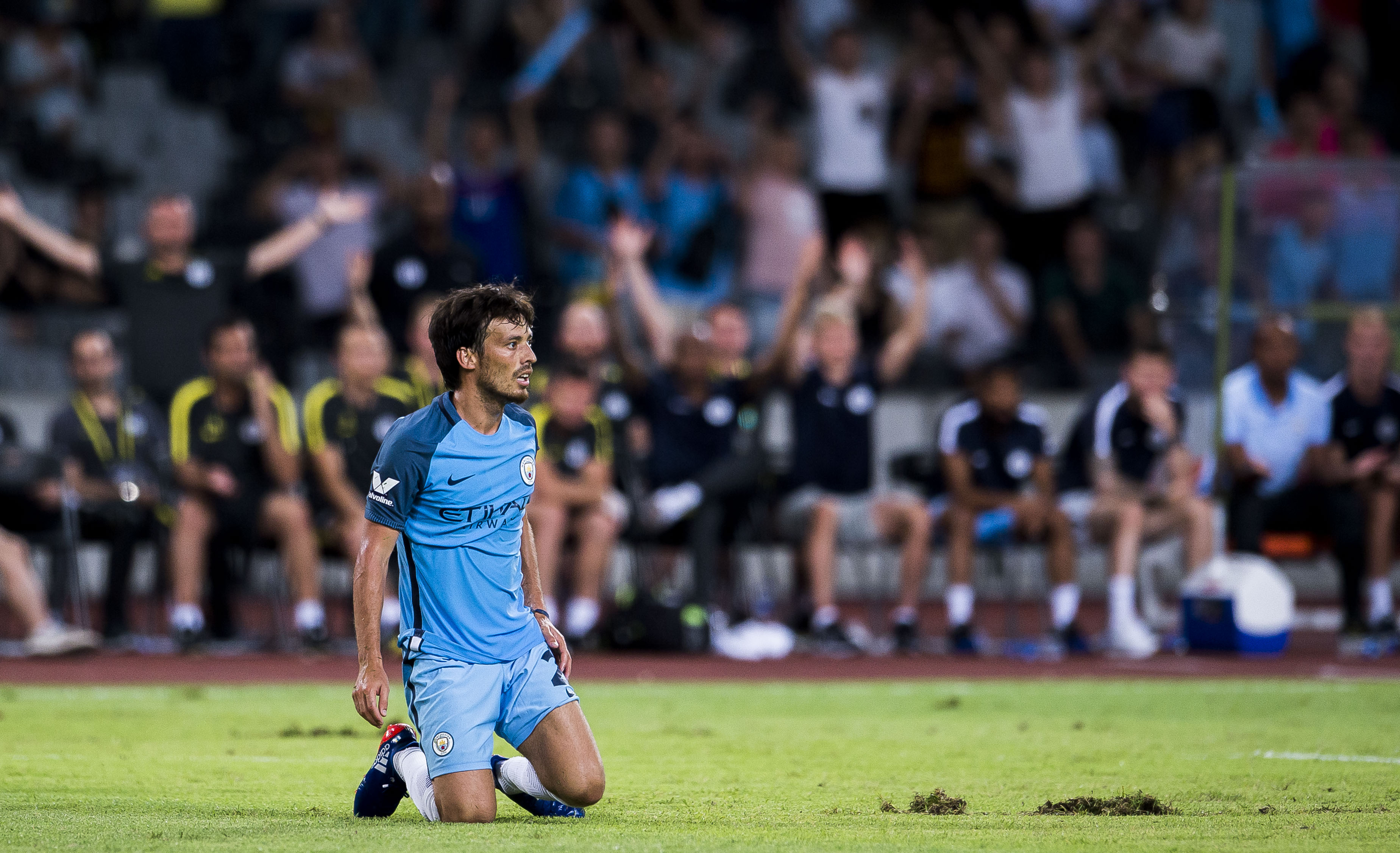 David Silva out of Manchester City's Champions League clash due to injury