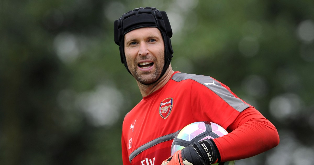 Goalkeeper Petr Cech of Chelsea saves a penalty by Bastian ...  |Petr Cech Chelsea Save