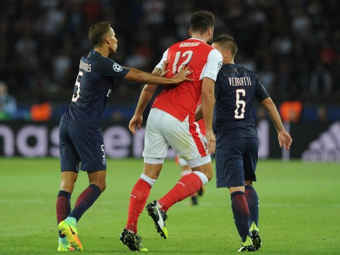 In pictures: Why Olivier Giroud was sent off for altercation with Marco Verratti in the Champions League