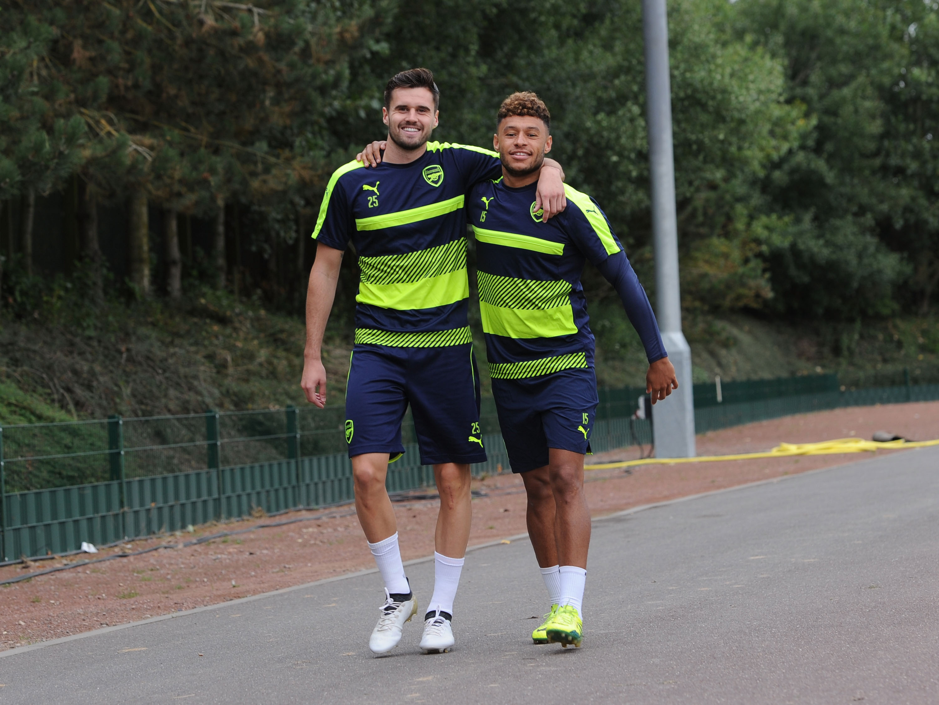 Pictures: Arsenal welcome Carl Jenkinson back to training ahead of FC Basel game