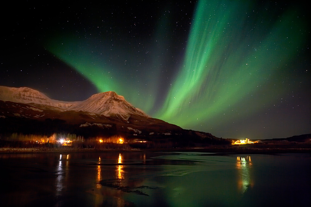 In pics: Reykjavik turns off street lamps to give stunning views of Northern Lights