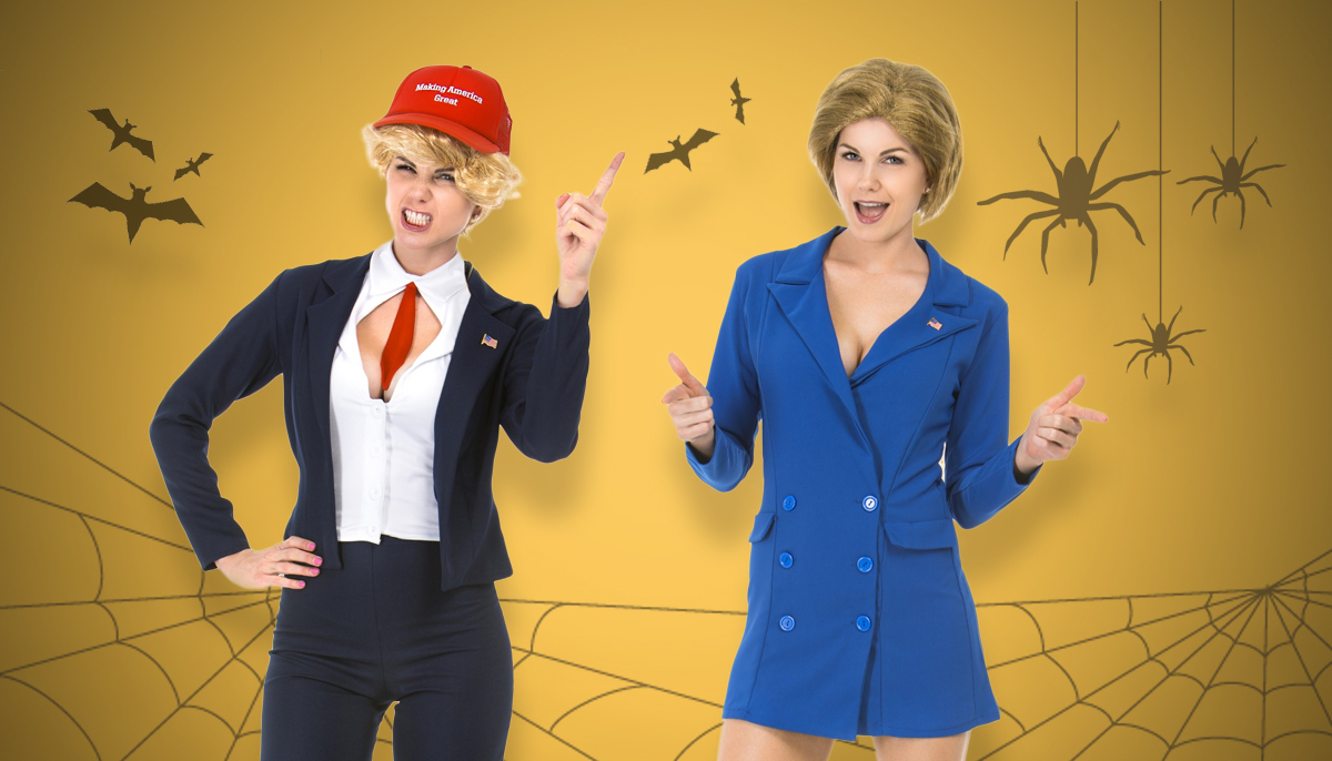 Why yes, there ARE sexy Hillary and Donald Trump Halloween costumes this year Credit: Yandi/Getty Images