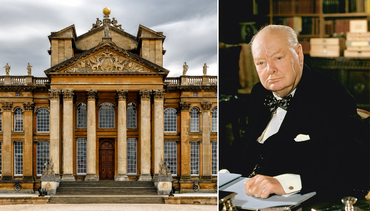 Winston Churchill's place of birth has been turned into Nazi headquarters