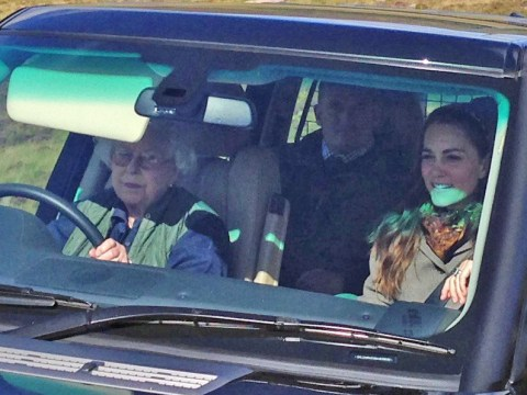 The Queen gets behind the wheel to drive Kate Middleton to a picnic at Balmoral