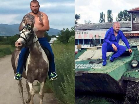 Horseback 'migrant bounty hunter' shows off new Mercedes
