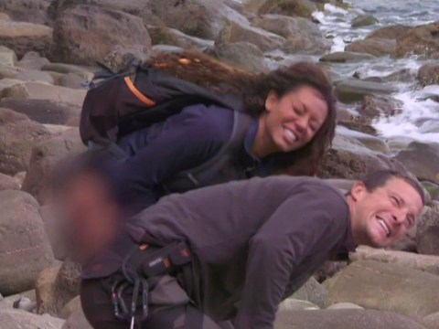 WATCH: Mel B takes Bear Grylls hand and p*sses on it to relieve jellyfish sting