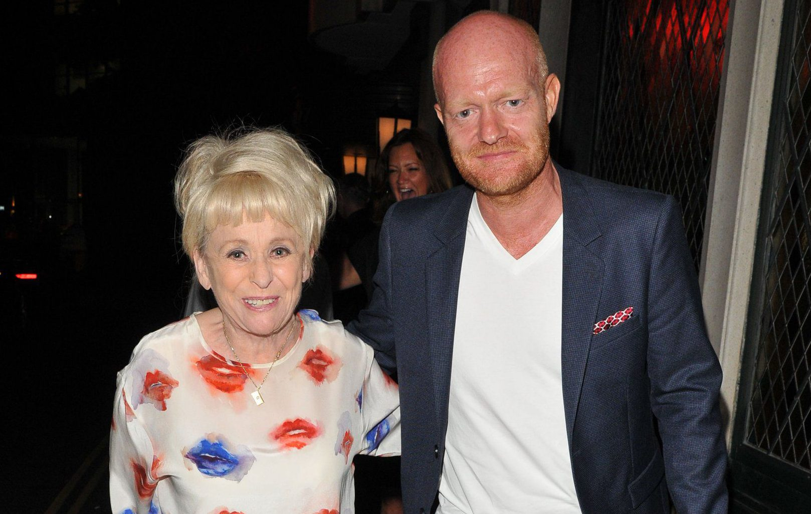 Mandatory Credit: Photo by Can Nguyen/REX/Shutterstock (5896971f) Barbara Windsor and Jake Wood Barbara Windsor and Jake Wood out and about, London, UK - 13 Sep 2016 The ex-Eastenders stars spotted leaving the Ivy restaurant.