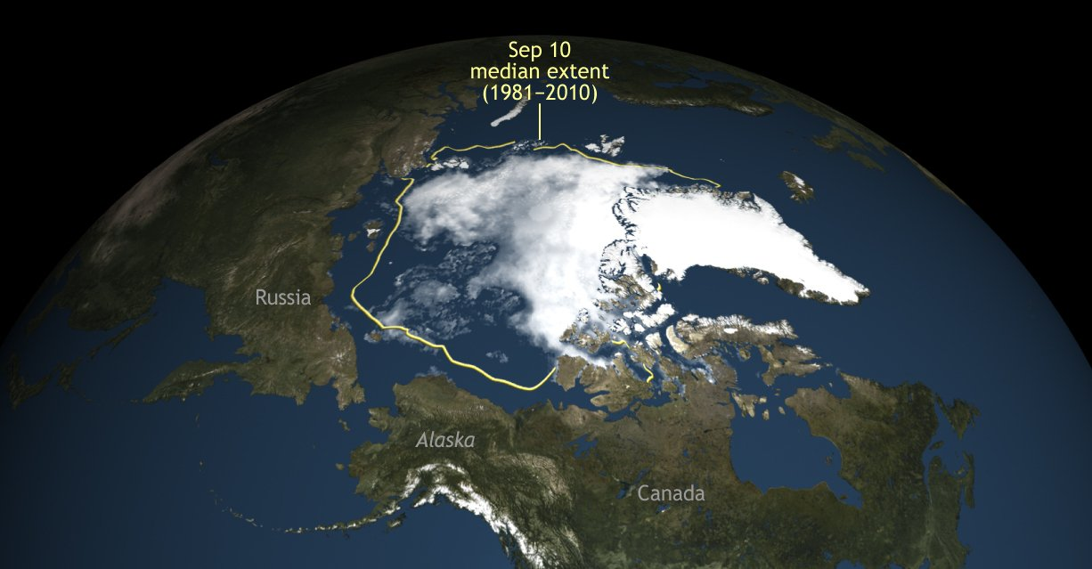 This summer the Arctic sea ice shrank to its second lowest level on record