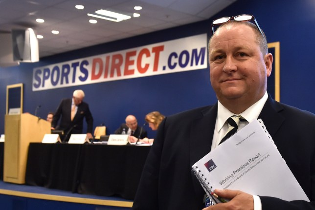 File photo dated 07/09/16 of Sports Direct majority shareholder Mike Ashley at the company's annual general meeting in Shirebrook, Nottinghamshire, as the retailer said it is to undertake an independent review of working practices and corporate governance following concerns raised by shareholders. PRESS ASSOCIATION Photo. Issue date: Tuesday September 20, 2016. See PA story CITY SportsDirect. Photo credit should read: Joe Giddens/PA Wire