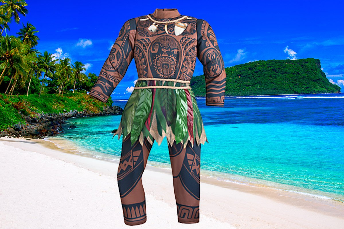 Disney costume accused of cultural appropriation credit: Moment/Getty Images/Disney background: Samoan beach costume: https://www.disneystore.com/costumes-costume-shop-clothes-maui-costume-for-kids-disney-moana/mp/1415713/1000396/?CMP=KNC-DSSGoogle&LSID=3640648|10676026|skim74968X1525086X539305c2811abebfdb337fdc4709d2f7