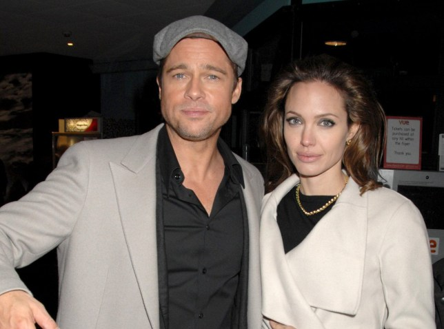 Mandatory Credit: Photo by Richard Young/REX/Shutterstock (712506ak) Brad Pitt and Angelina Jolie 'Beowulf' Film Premiere, London, Britain - 11 Nov 2007