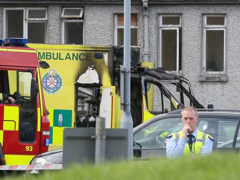 Patient dies after ambulance bursts into flames outside hospital