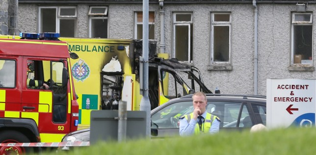 22/9/2016nGeneral view of an Naas Hospital where a person lost their life after an ambulance caught fire yesterday(Thurs).Pic: Paddy Cummins/PCPhoto.ie