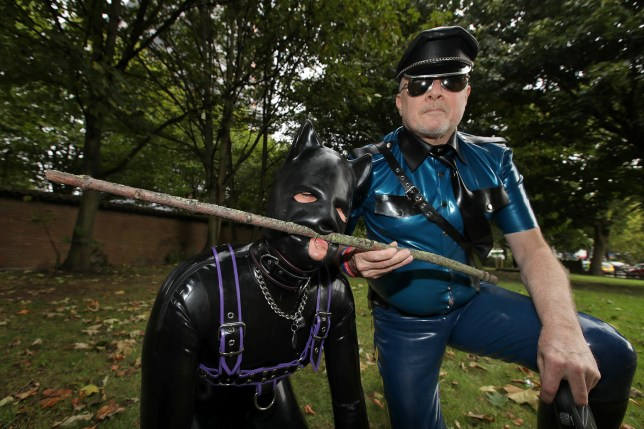 BPM MEDIAnReal life human puppy and his master from Nuneaton. Pictured puppy Lucky and his master OZ