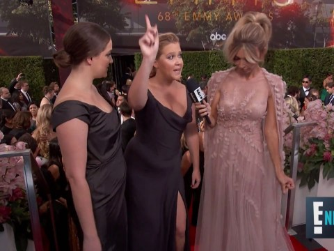 Amy Schumer admits she was wearing 'a tampon' on the Emmys red carpet