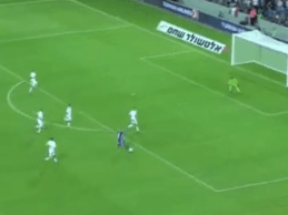 Italy goalkeeper Gianluigi Buffon undone by delicious chip from Israel's Tal Ben Haim