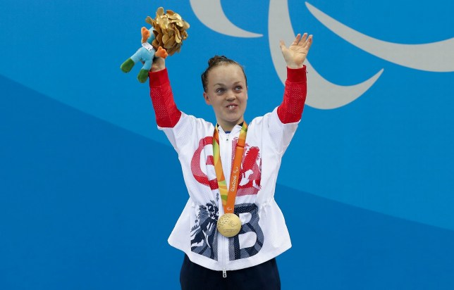 5cede6b2324 Ellie Simmonds won one of Team GB s three gold medals in the pool (Picture   Getty)