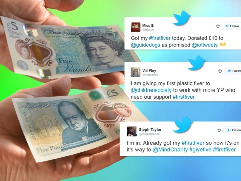 #FirstFiver: People are donating their first new £5 note to charity