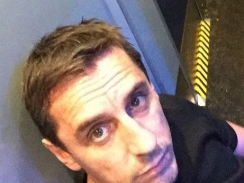 Gary Neville does a Jeremy Corbyn on train to Chelsea – Liverpool match