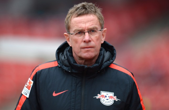 NUREMBERG, GERMANY - MARCH 20: Ralf Rangnick, head coach of Leipzig looks on prior to the Second Bundesliga match between 1. FC Nuernberg and RB Leipzig at Grundig-Stadion on March 20, 2016 in Nuremberg, Germany. (Photo by Micha Will/Bongarts/Getty Images)