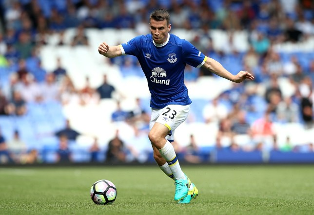 LIVERPOOL, ENGLAND - AUGUST 06: Seamus Coleman of Everton in action during the pre-season friendly match between Everton and Espanyol at Goodison Park on August 6, 2016 in Liverpool, England. (Photo by Jan Kruger/Getty Images)