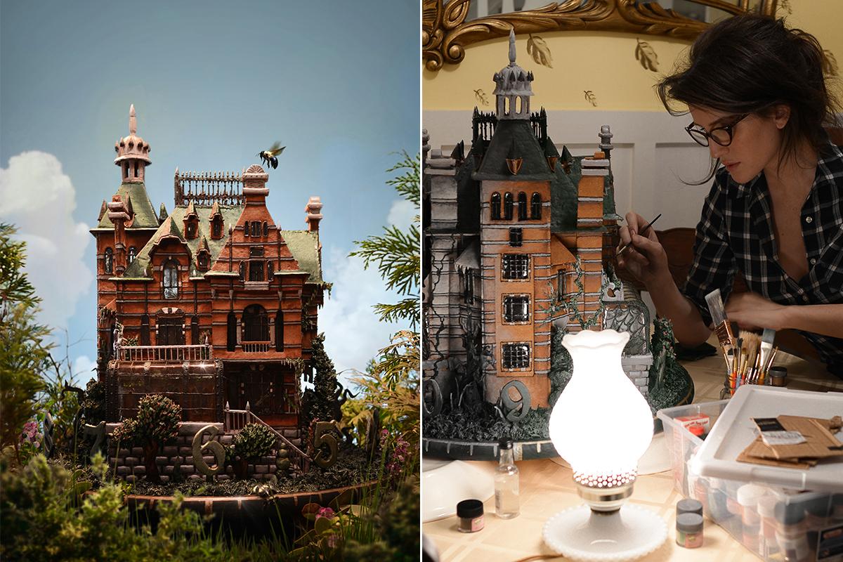 Artist creates incr-edible gingerbread house replica from Tim Burton's latest film
