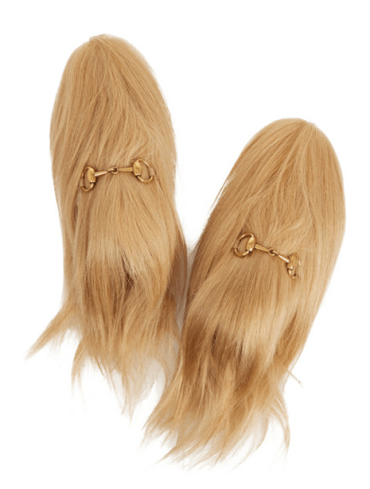 7854ceb9e Gucci have released £1367 slippers made out of hair and no one gets ...