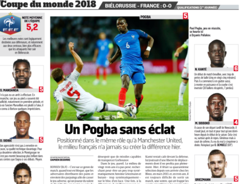 Olivier Giroud and Moussa Sissoko slated by L'Equipe – Paul Pogba fares little better
