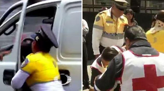 White van driver injures traffic warden after speeding away to 'avoid fine'