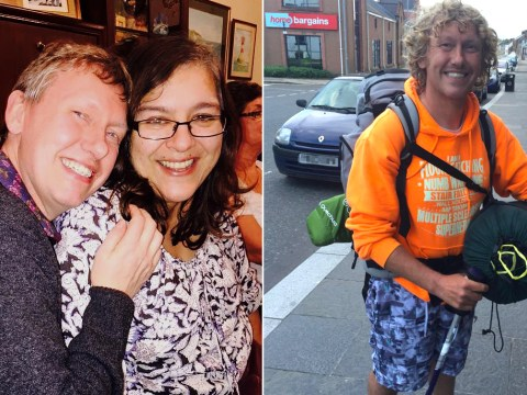 Exclusive: MS sufferer walks 900 miles in memory of childhood sweetheart who died of cancer 27 days after they wed