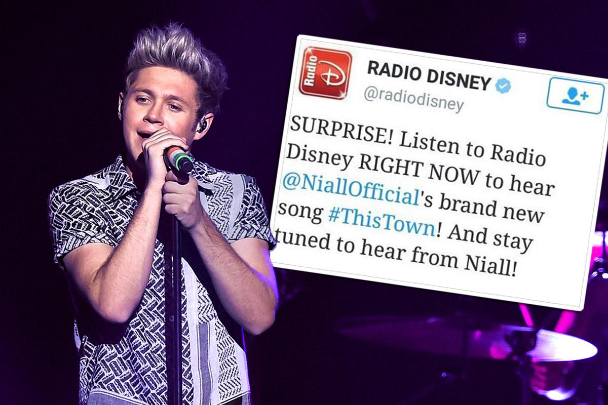 Radio Disney tweet, then delete said tweet, about Niall Horan's new solo single