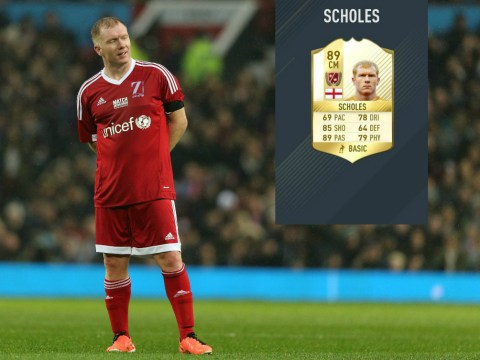 Manchester United hero Paul Scholes added to FIFA 17 legends category alongside ex-Arsenal and Liverpool stars
