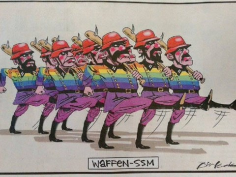 Newspaper prints cartoon comparing gay people to Nazi stormtroopers