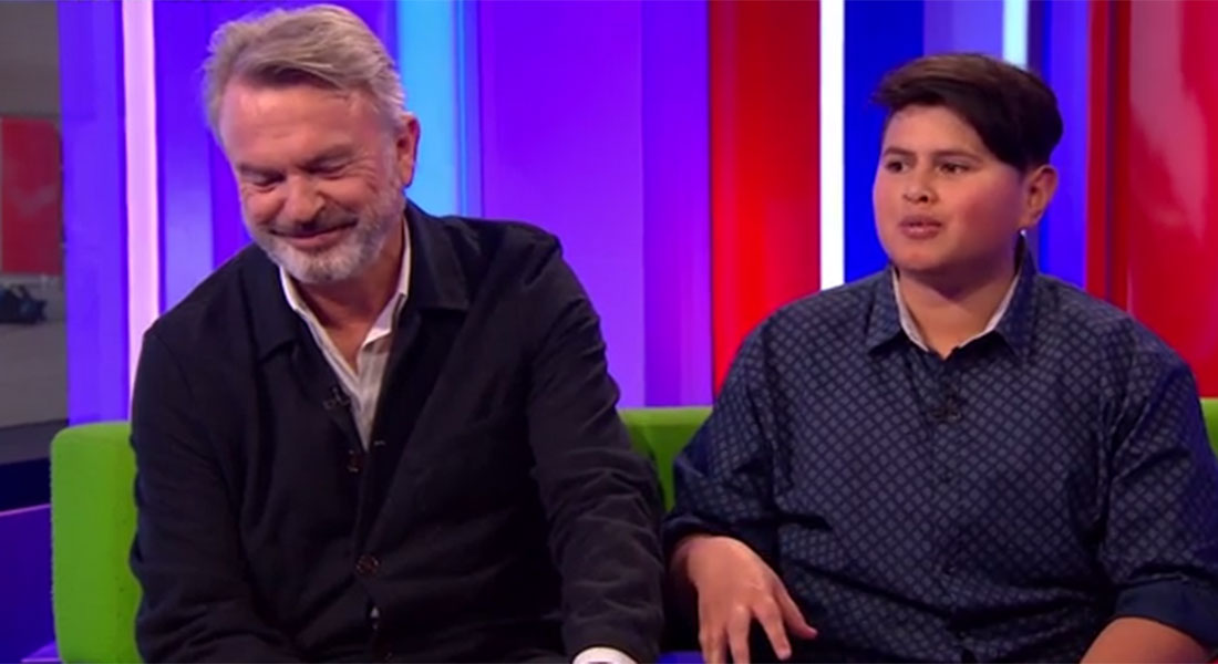 Sam Neill's teenage co-star Julian Dennison totally owned him on The One Show