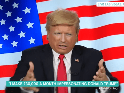 Holly Willoughby accused of flirting with Donald Trump (….impersonator)