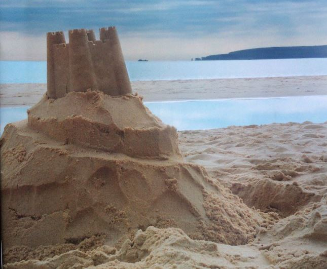 Ukip have chosen a crumbling sandcastle as the emblem of their annual conference