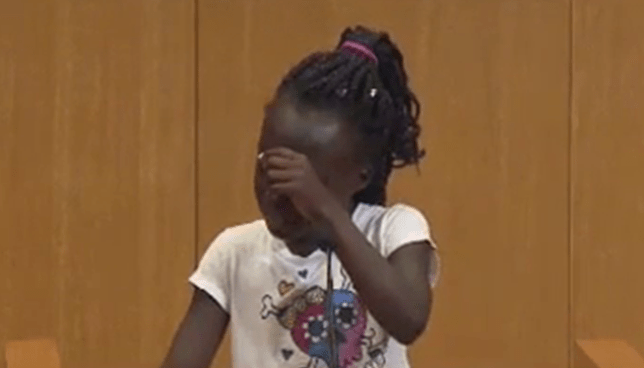 Girl's emotional plea to stop people killing each other