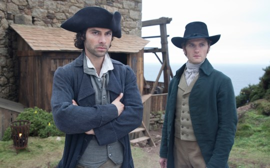 WARNING: Embargoed for publication until 00:00:01 on 27/09/2016 - Programme Name: Poldark - TX: n/a - Episode: n/a (No. n/a) - Picture Shows: **EMBARGOED UNTIL TUESDAY 27TH SEPTEMBER 2016** Ross Poldark (AIDAN TURNER), Francis (KYLE SOLLER) - (C) BBC - Photographer: Adrian Rogers