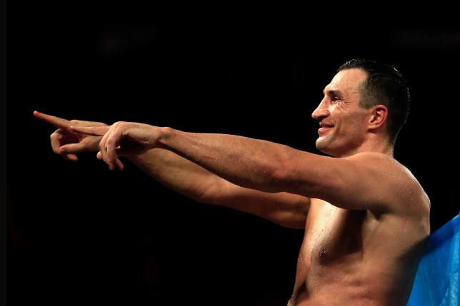 NEW YORK, NY - APRIL 25: Wladimir Klitschko of Ukraine celebrates defeating Bryant Jennings of the United States in their IBF/WBO/WBA World Heavyweight Championship title fight at Madison Square Garden on April 25, 2015 in New York City. (Photo by Justin Heiman/Getty Images)