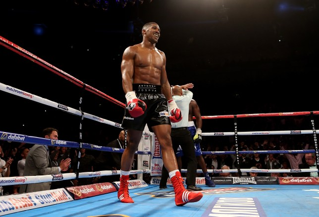LONDON, ENGLAND - MAY 30: Anthony Joshua of England celebrates after defeating Kevin Johnson of The USA in their WBC International Heavyweight Championship bout at The O2 Arena on May 30, 2015 in London, England. (Photo by Ben Hoskins/Getty Images)
