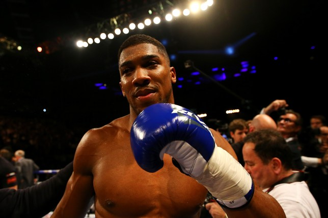 LONDON, ENGLAND - APRIL 09: Anthony Joshua of England celebrates after defeating Charles Martin of the United States in action during the IBF World Heavyweight title fight at The O2 Arena on April 9, 2016 in London, England. (Photo by Richard Heathcote/Getty Images)