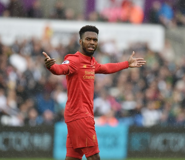 SWANSEA, WALES - OCTOBER 01: (THE SUN OUT, THE SUN ON SUNDAY OUT) Daniel Sturridge of Liverpool during the Premier League match between Swansea City and Liverpool at Liberty Stadium on October 1, 2016 in Swansea, Wales. (Photo by Andrew Powell/Liverpool FC via Getty Images)