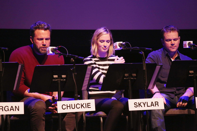 Matt Damon and Ben Affleck reunited for Good Will Hunting live script reading in New York